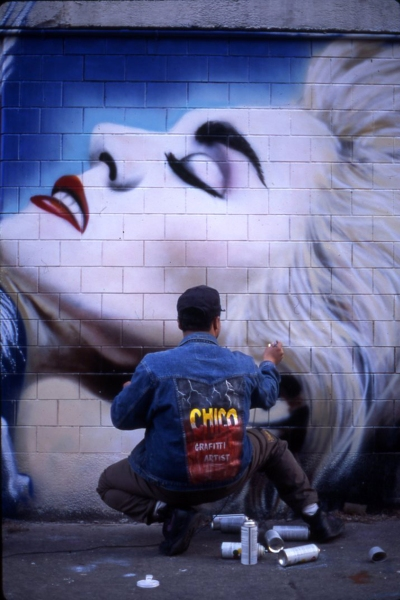 Murales Madonna - 1992 (N.Y. Manhattan, East Village - E. 10° str. Ave 1 e 2.) by CHICO